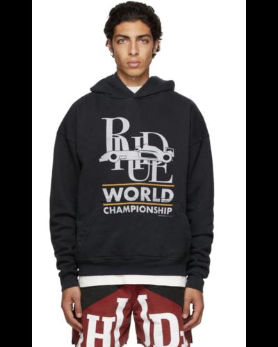 Rhude World Champion Hoodie Zwart