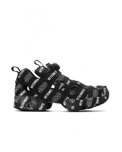 Vetements x Reebok StarWars Instapump Fury Vet Logo Sneakers Black