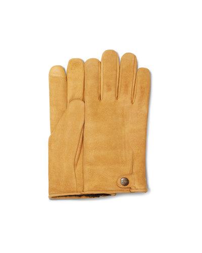 UGG  Tabbed Splice Vent Leather Gloves Brown