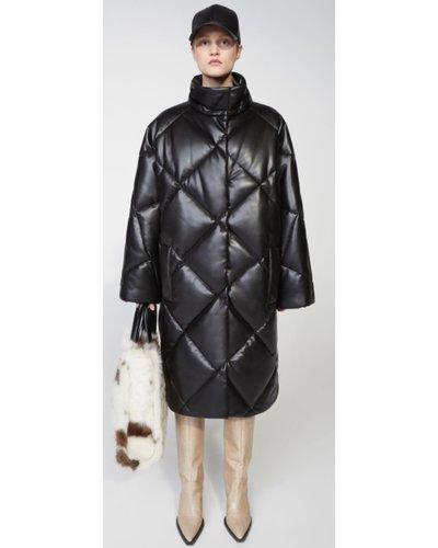 Stand Studio Anissa Faux Leather Coat Zwart