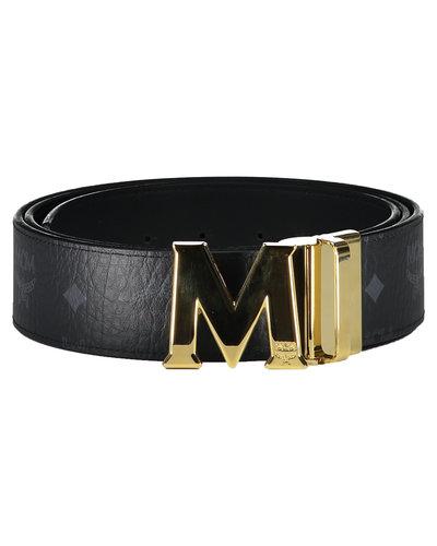 MCM Worldwide Claus Reversible Belt Black