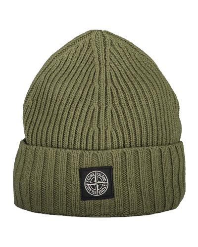 Stone Island Junior N03A8 Hat Army Green