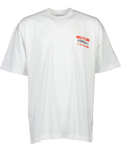Vetements My Name is Vetements T-shirt Wit
