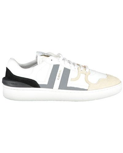 Lanvin Paris Clay Low Top Sneakers Beige