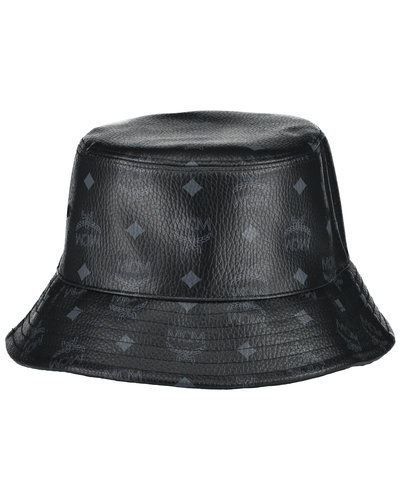 MCM Worldwide Visetos Bucket Hat Schwarz
