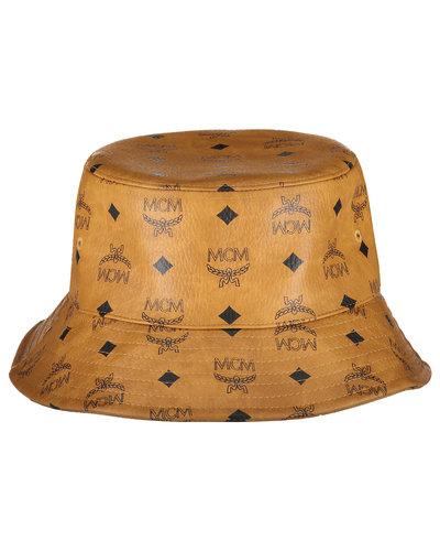 MCM Worldwide Visetos Bucket Hat Cognac