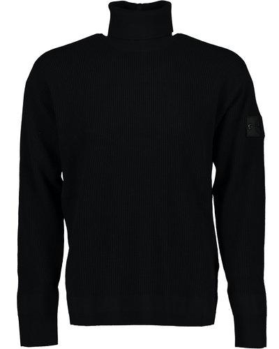 Shadow Project Stone Island 506A1 Turtleneck Sweater Black