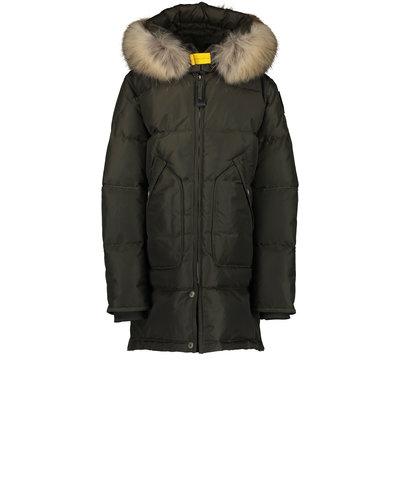 Parajumpers Kids  Long Bear Jacket Green