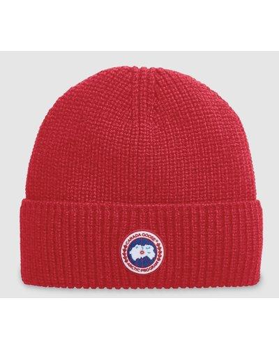 Canada Goose Artic Disc Toque Hat Red