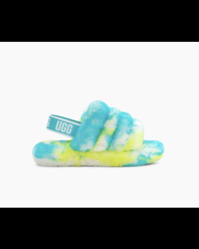 UGG Junior  Fluff Yeah Slide Marble Blauw