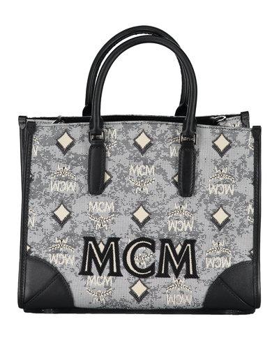 MCM Worldwide Vintage Jaquard Tote Grijs
