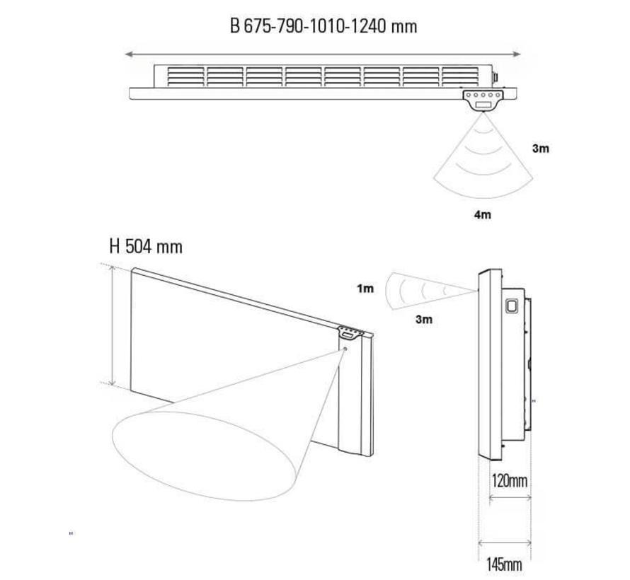 E-Comfort Klima elektrische radiator 2 kW