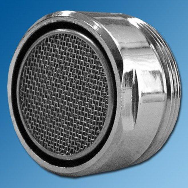 Waterbesparende straalregelaar M28bu. voor gegoten uitloop