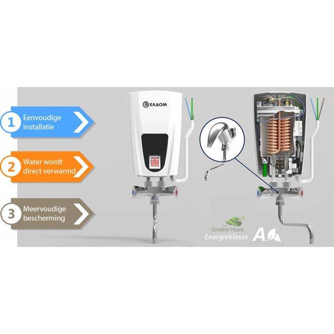 Doorstroomverwarmer met mengkraan 3,5 kW