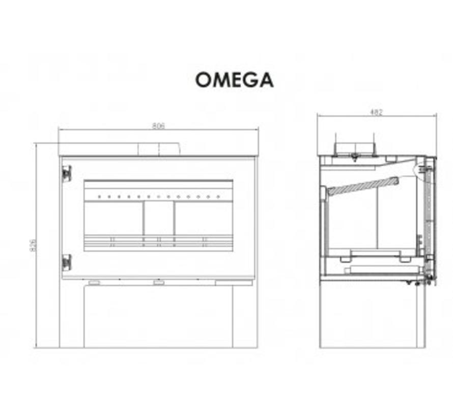 Omega vrijstaande houtkachel 11 kW