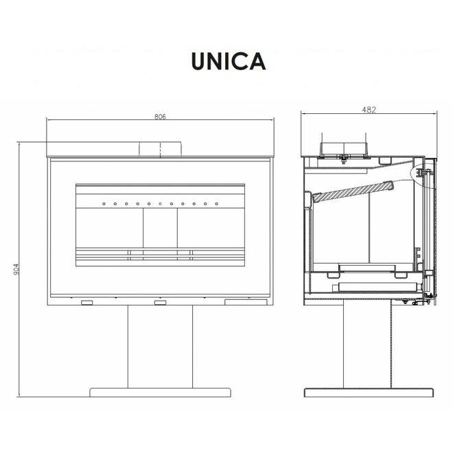 Unica vrijstaande houtkachel 11 kW