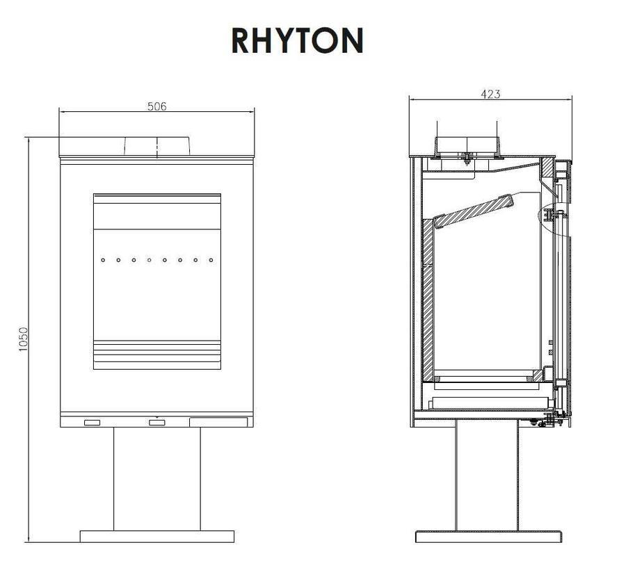 Rhyton vrijstaande houtkachel 9 kW