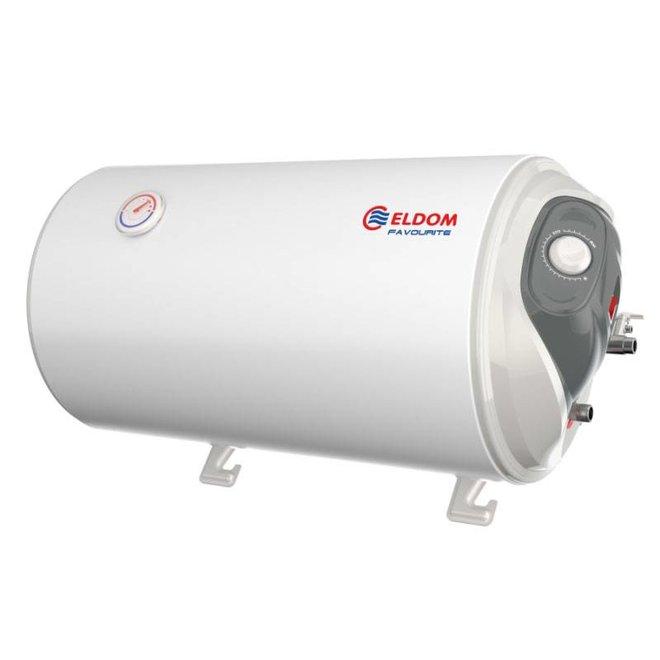Elektrische Boiler 50L, horizontaal, 2kW, emaille, aansluiting rechts