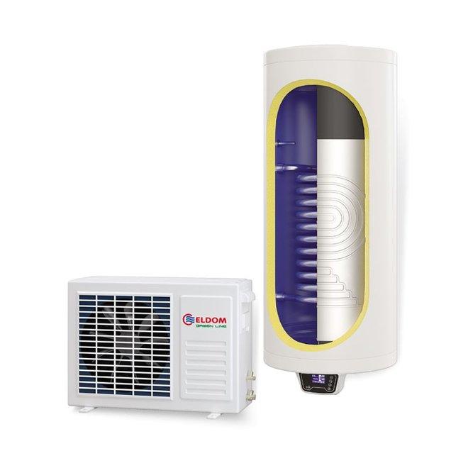 Lucht-water warmtepomp met extra warmtewisselaar, 150L, tapwater