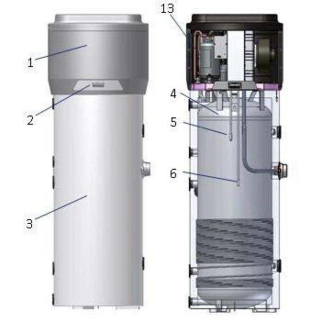 Warmtepomp boiler 260L