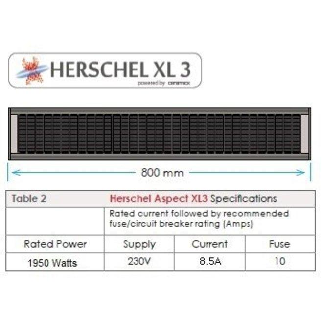 Aspect XL3 - Verwarming voor binnenplaatsen