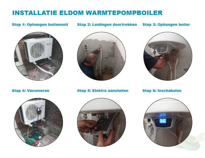 Installatie warmtepomp boiler in beeld uitgelegd
