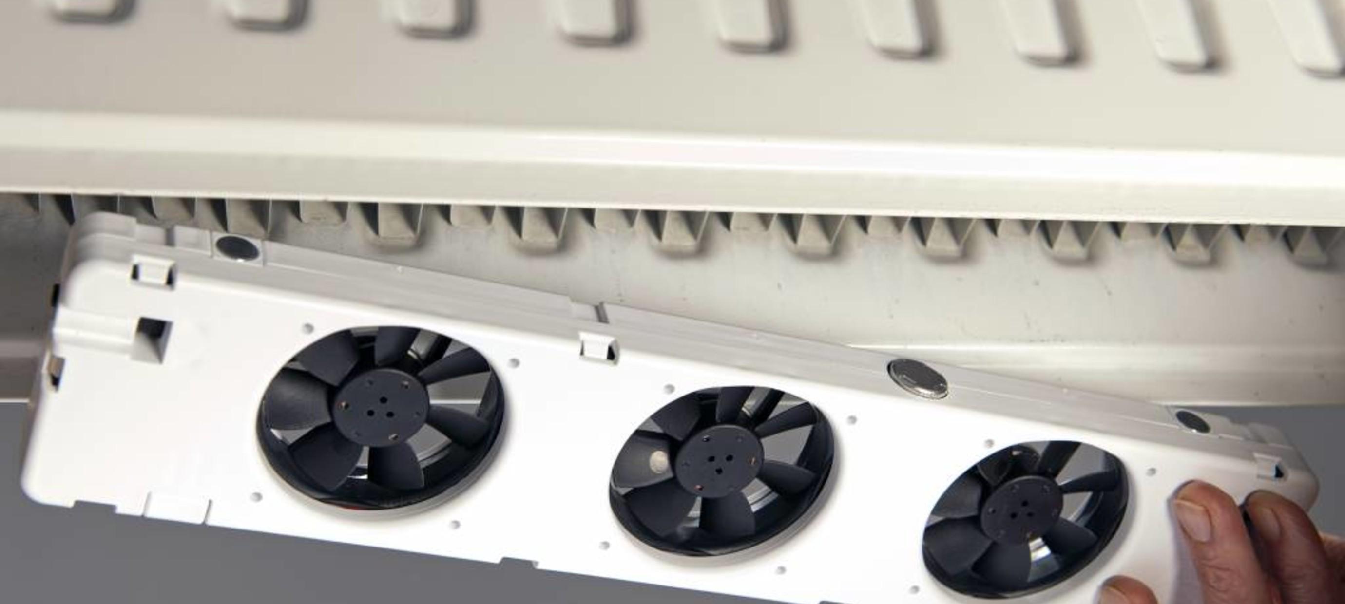 Eenvoudig te plaatsen radiator booster