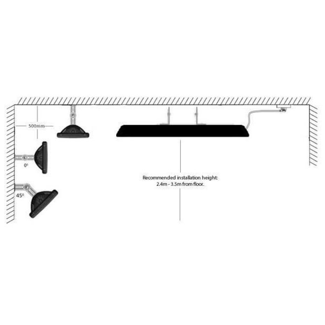 Colorado 2500R - Terrasverwarmer met afstandsbediening