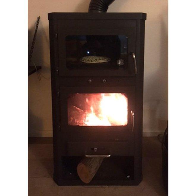 Lotos Max FT, vrijstaande houtkachel met oven, 14 kW