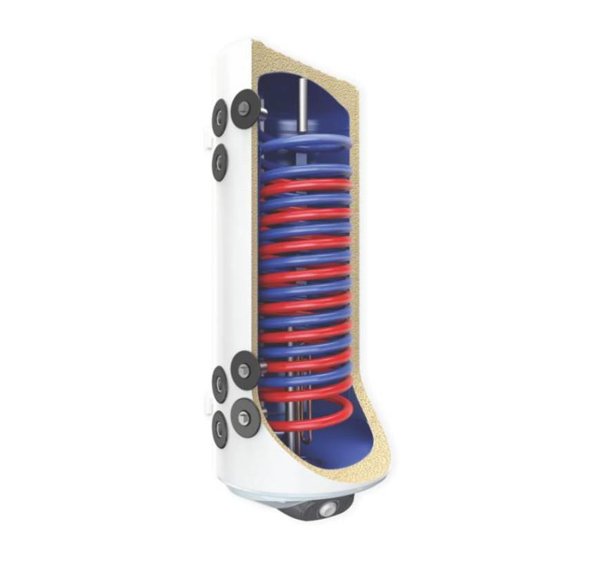 120L hangende combinatie boiler, 2 parallelle warmtewisselaars
