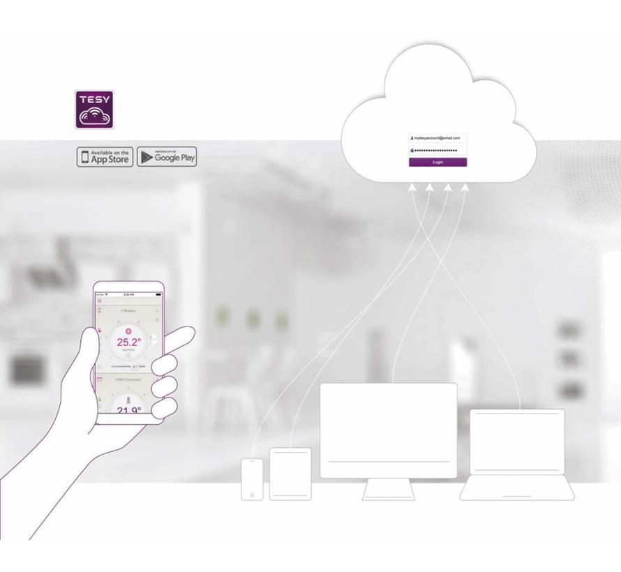 Verticale elektrische smart boiler 120L, Modeco Cloud 2.4kW