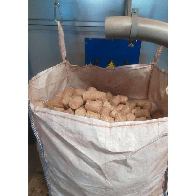 Zak van 550 kg Houtbriketten