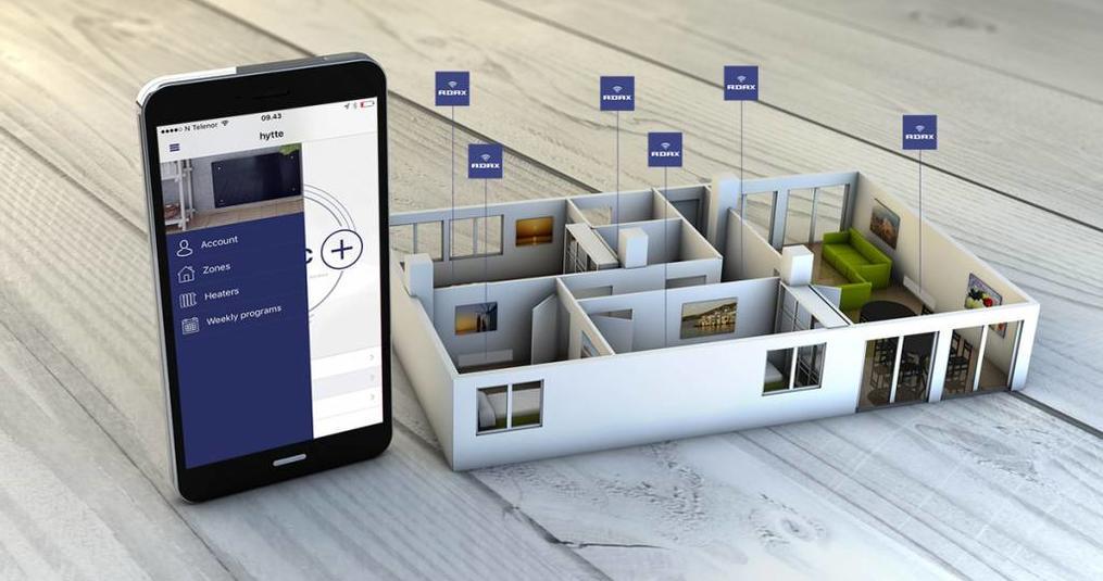 Smart elektrische verwarming met wifi koppeling