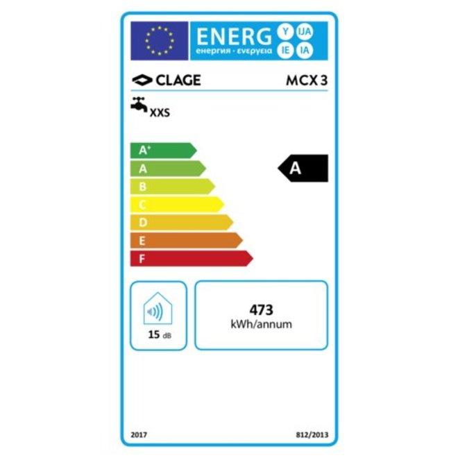 Elektronisch geregelde kleine doorstromer 3,5 kW  met 3 temperatuurinstellingen