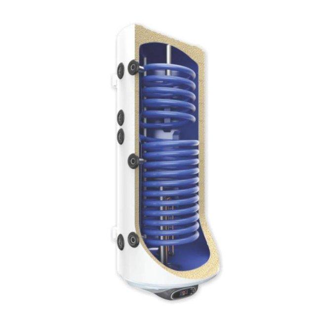 Elek. Boiler 120L digi, 2 warmtewisselaars