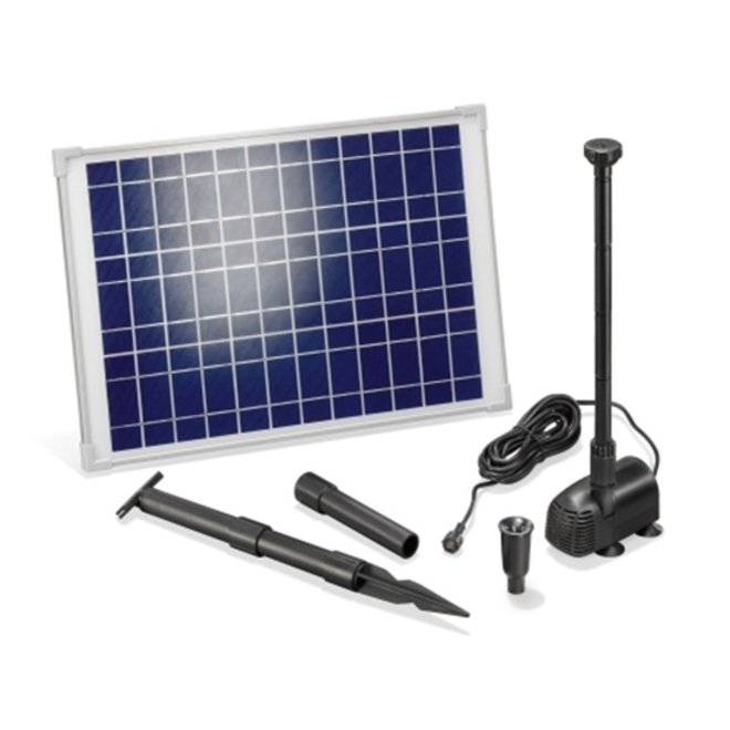Solar vijverpomp 20W 1350 l/h Komplettset