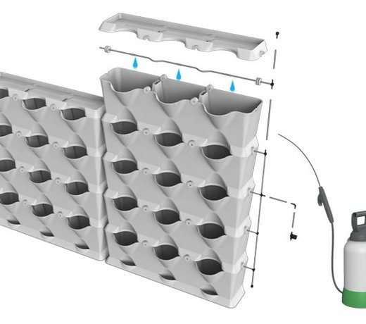Bewateringssysteem voor uw groene wand