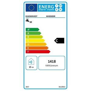 ELDOM Favourite Elektrische Boiler 50L, horizontaal, 2kW, emaille, aansluiting links of rechts