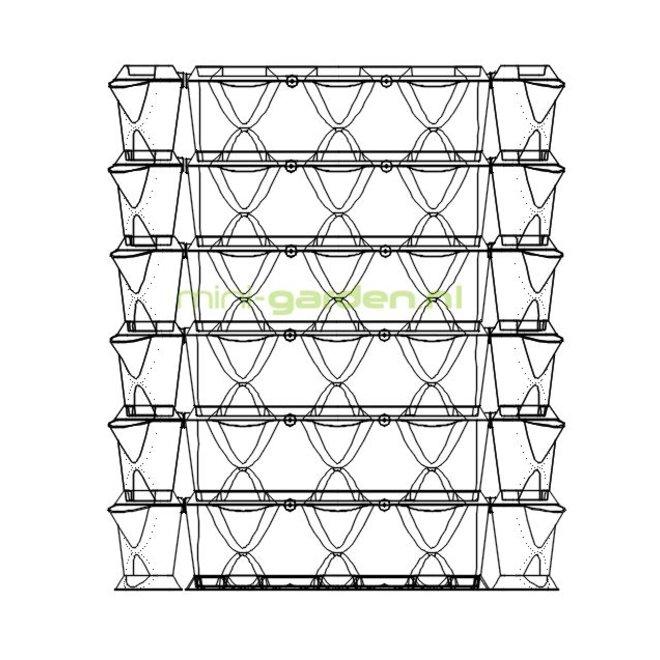 Vertical en Corner 1m2 combinatie pakket