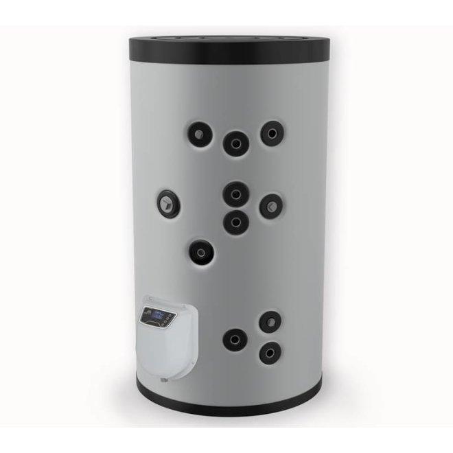 200L. Indirect gestookte boiler, 2 warmtewisselaars, elektrische bediening