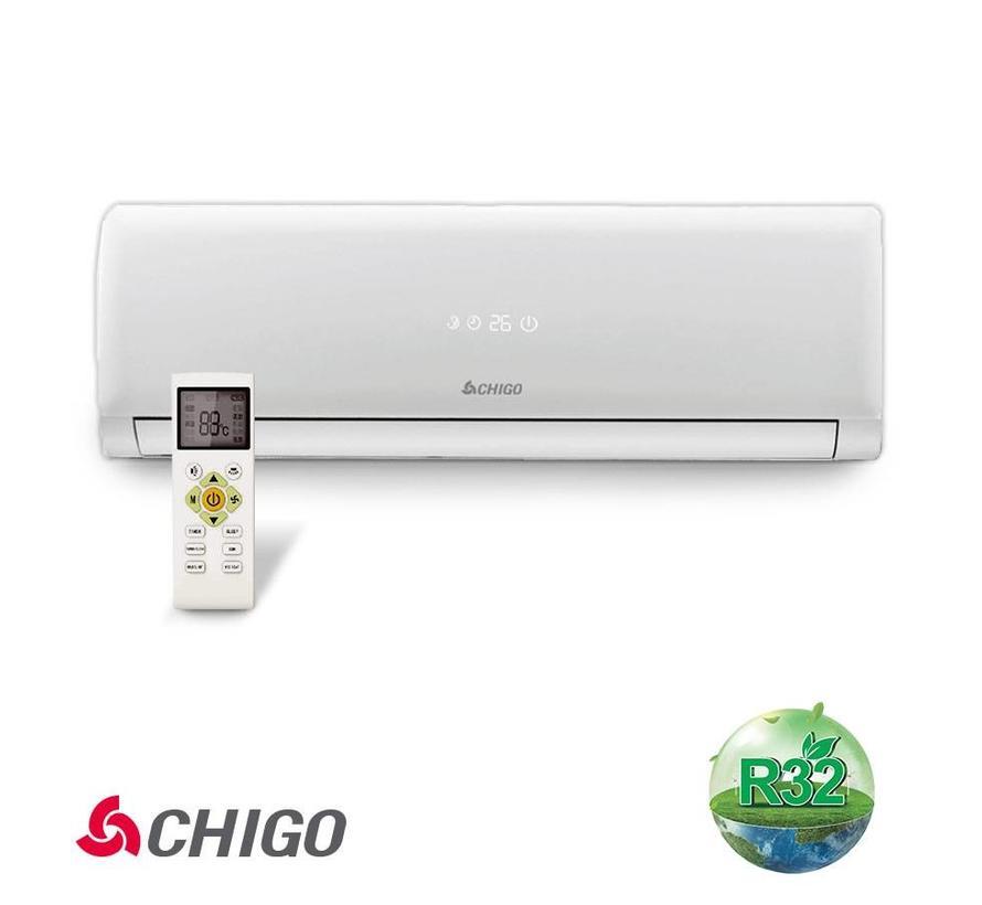 Split-unit inverter airco 2.5 kW voorgevuld (STEK)