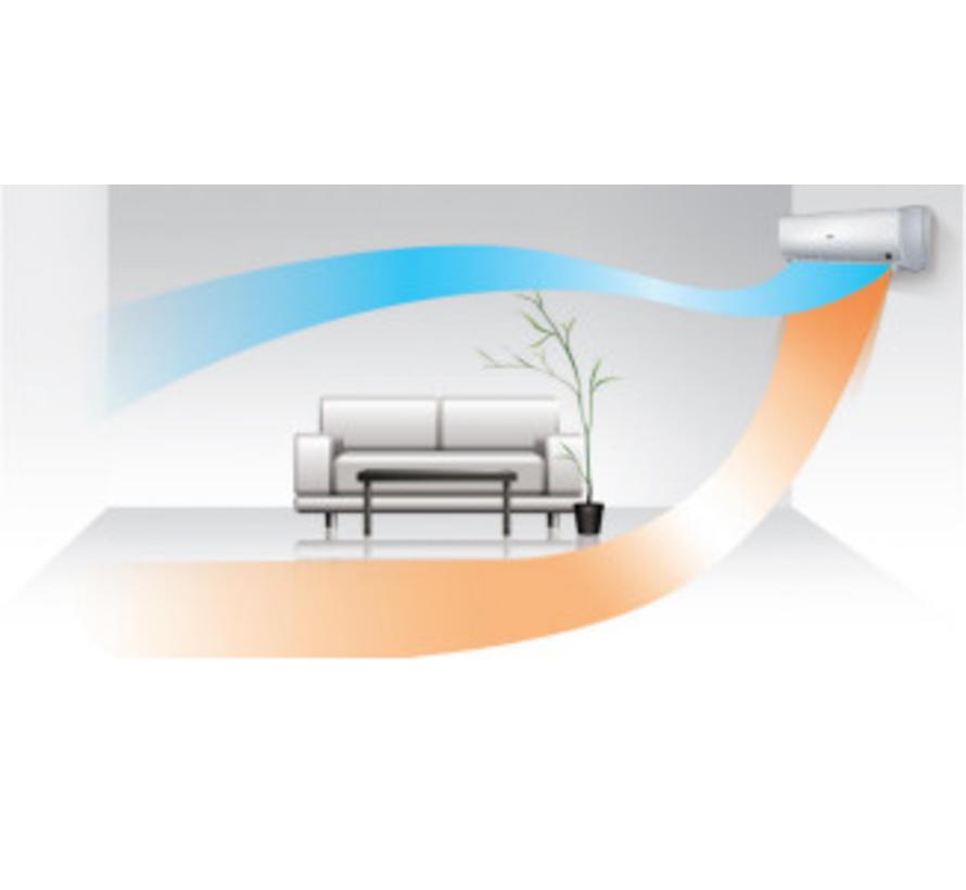 Split-unit inverter airco 3.5 kW voorgevuld  (STEK)