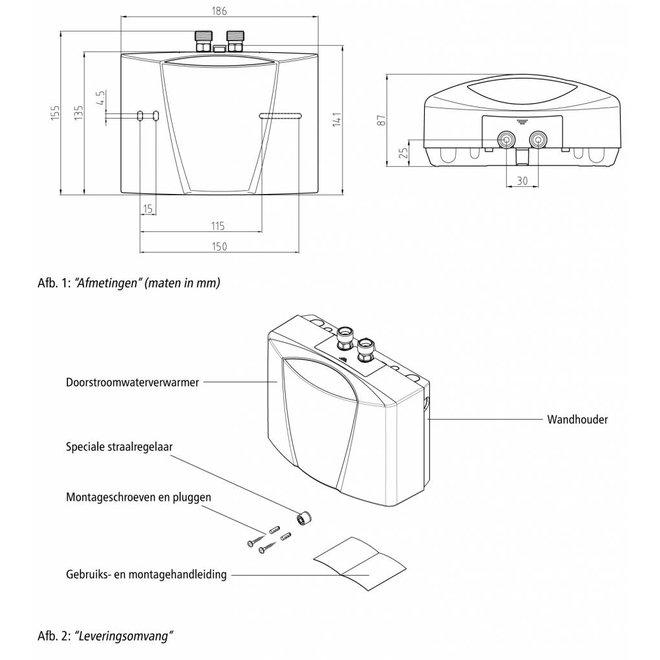 Hydraulisch gestuurde kleine doorstromer 3,5 kW