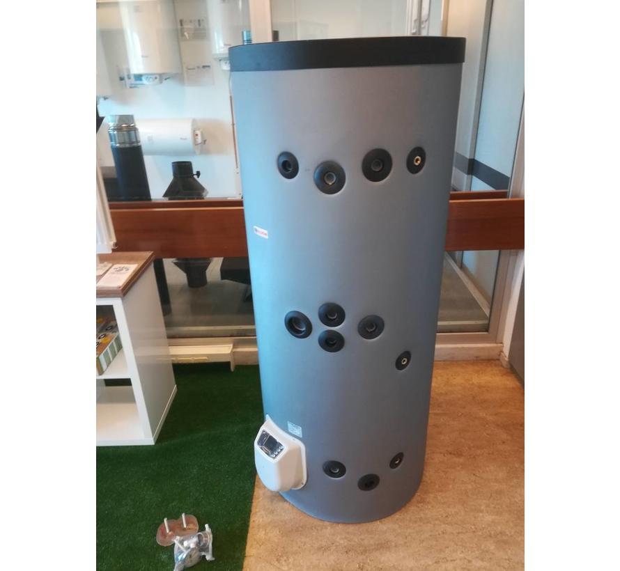 Staande 300 liter boiler met dubbele warmtewisselaar en digitale bediening