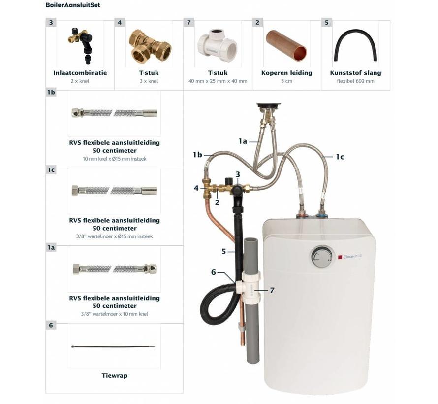 Universele aansluitset voor elektrische keuken boilers