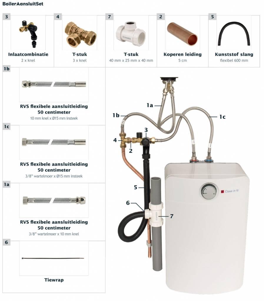 Zeer Universele aansluitset voor keuken boilers - Groene Hoed Duurzaam PP94