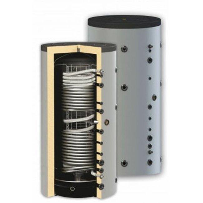Sunsystem 1000 liter combi-buffertank met dubbele warmtewisselaar,  geschikt voor tapwater