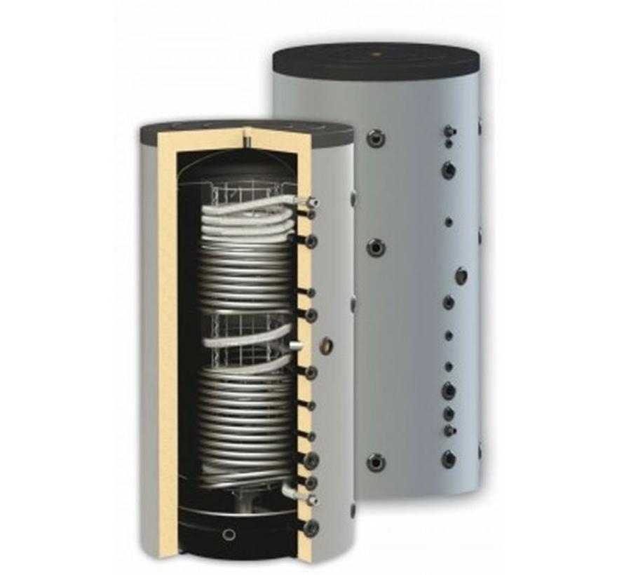 500 liter combi-buffertank met dubbele warmtewisselaar,  geschikt voor tapwater
