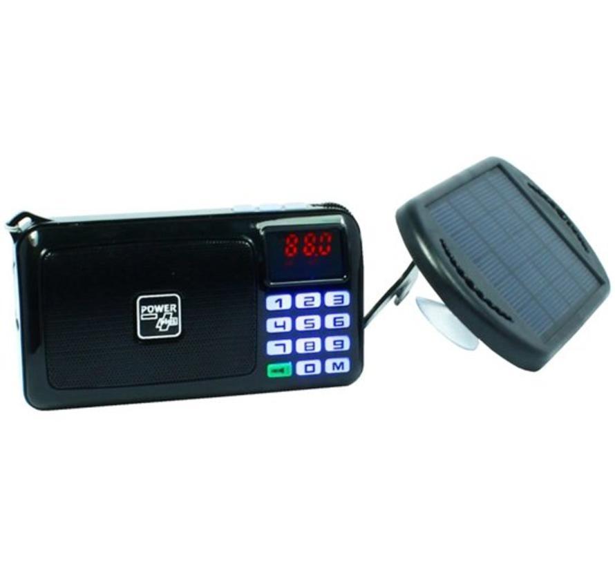 Draagbare FM-radio/mp3-speler op zonne-energergie