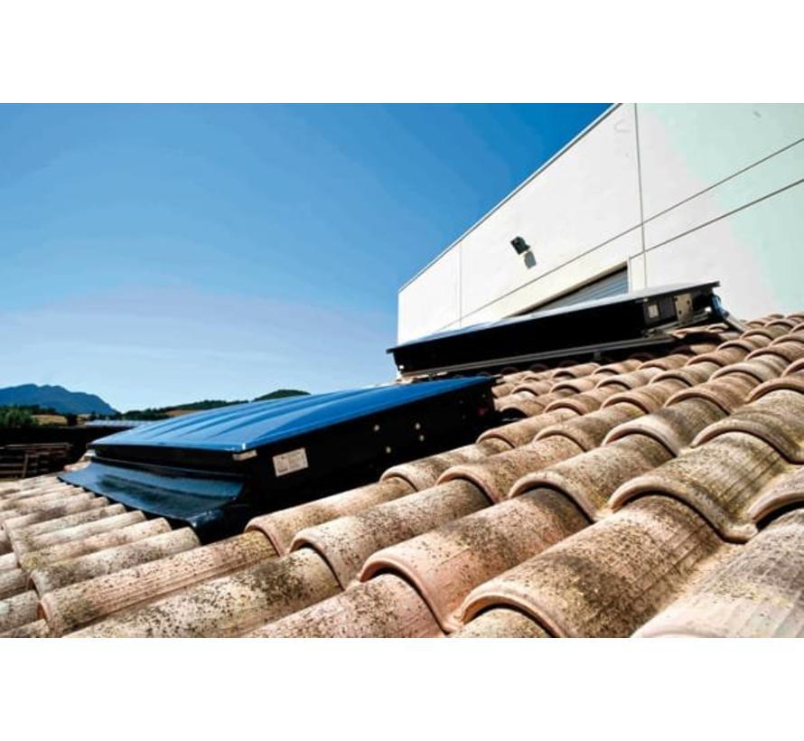 OK-SOL all-in-one zonneboiler 150L voor op het dak
